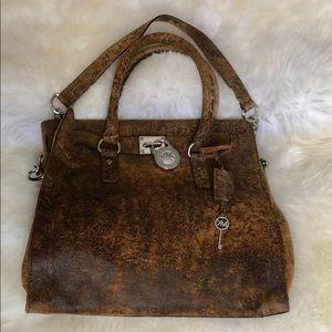 Michael Kora leather tote